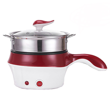 Mini Multifunction Electric Cooking Machine Single/Double Layer Available Hot Pot Multi Electric Rice Cooker Non-Stick Pan