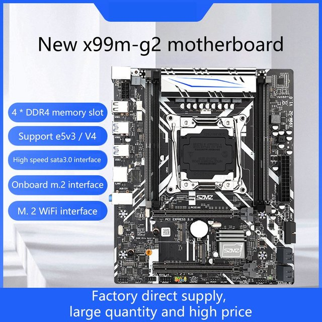 X99M-G2 Motherboard Set With E5 2620V3 Processor Support PCIE 16X USB 3.0 SATA And DDR4 Memory 1