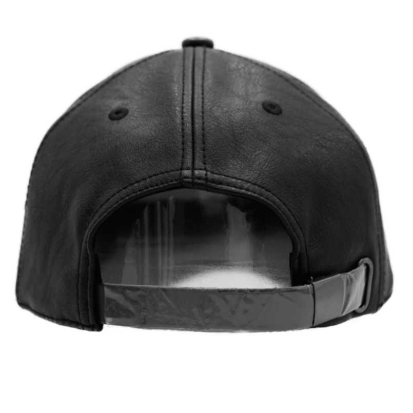 רגיל חדש גברים בייסבול כובע נשים מוצק עור Snapback כובע Casquette מותג מתכוונן עצם PU כובעי לגברים חורף בייסבול כובעים