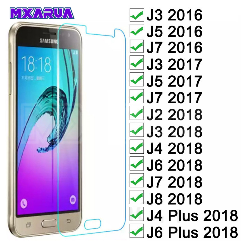 Tempered Glass On The For Samsung Galaxy J3 J5 J7 2015 2016 2017 J2 J8 J4 J6 2018 Safety Screen Protector Protective Glass Film