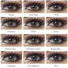 2 sztuk para kolorowe soczewki kontaktowe do oczu 3 Tone Serie kolorowe soczewki do oczu kontakt z kolor kosmetyczny makijaż uroda uczeń tanie tanio Magister CN (pochodzenie) 14 5mm Dwa Kawałki 0 06-0 15mm PHEMA Piękne Uczeń 3 Tone Series Colorful Contact Lenses for Eyes