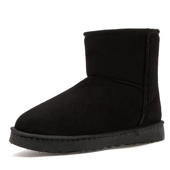 Męskie buty męskie buty zimowe moda nowe buty śniegowe buty Plus rozmiar zimowe trampki kostki męskie buty zimowe buty czarne obuwie tanie i dobre opinie UNDER LER BUTY NA ŚNIEG CN (pochodzenie) flokowane ANKLE Stałe Dla osób dorosłych Krótki plusz Sztruks okrągły nosek