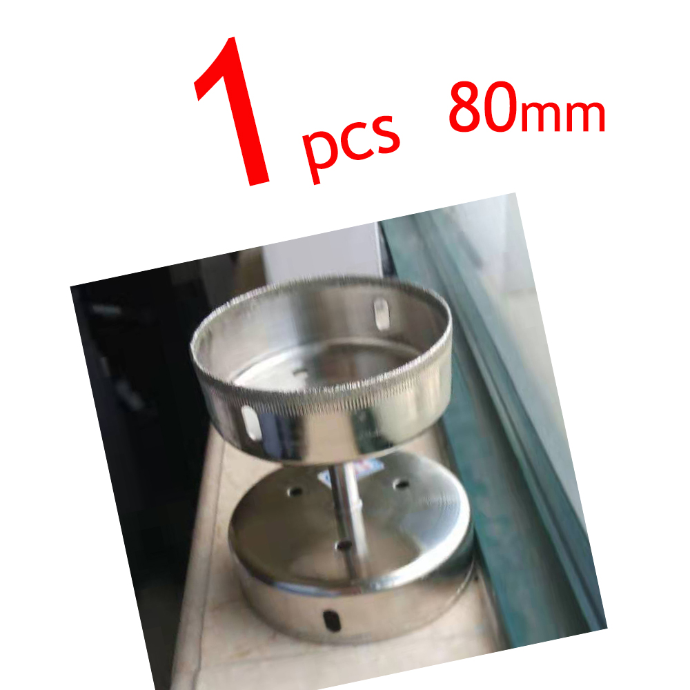 80mm Wholesales 1Pcs Diamond Drill Bits Set Hole Saw Cutter Tool Glass Marble Granite Use For Glass, Marble, Tile Or Granite