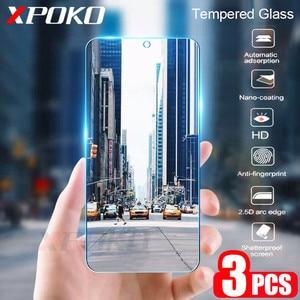 Image 1 - 3 sztuk szkło hartowane dla Samsung Galaxy A20 A30 A40 A70 A50 A20E folia na wyświetlacz 9H 2.5D szkło na Samsung J4 J6 Plus A7 A9 2018