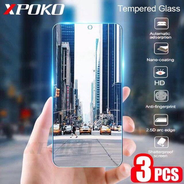 3Pcs Vetro Temperato Per Samsung Galaxy A20 A30 A40 A70 A50 A20E Protezione Dello Schermo 9H 2.5D di Vetro su samsung J4 J6 Più A7 A9 2018