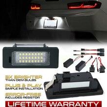 2pcs Car LED License Number Plate Lights Lamp For Seat Ibiza ST MK5 Alhambra MK2 Ateca (KJ7.KH7)white NO Error