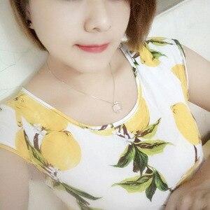 Image 2 - Ruifan Apple Form Natürliche Rose Quarz Weiß/Rose Gold 925 Sterling Silber Frau Anhänger Link Kette Halsketten Schmuck YNC092
