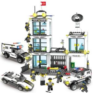 Image 5 - 951 pçs cidade polícia 60141 móvel polícia estação blocos de construção tijolo swat cidade caminhão carro navio helicóptero legoness modelo brinquedo presente
