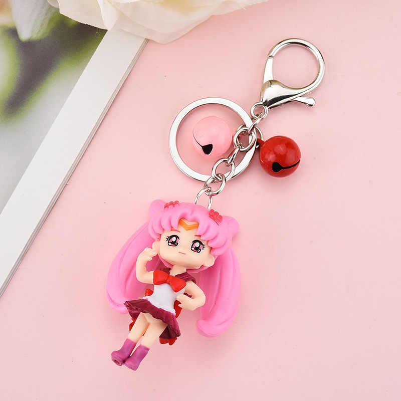 Lindo Sailor Moon Tsukino Usagi Hatsune Miku Janpanese chicas grandes figuras de ojos PVC figura de acción modelo llavero niños juguetes muñecas