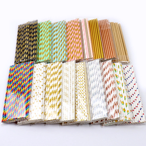 Image 2 - 25pcs Foil Gold Rose Gold Silver Paper Straws Wedding Favors Party Drinking Straws Birthday Party Decoration Kids Party Supplies
