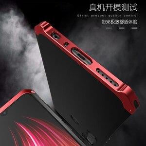 Image 3 - Per Il caso di Xiaomi Redmi Nota 8 Pro Telaio In Alluminio del Metallo Duro di Plastica Della Copertura Posteriore Per Xiaomi Redmi Nota 8 Pro fundas Sensazione Perfetta