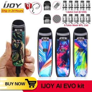 Image 1 - Original New IJOY AI EVO Resin Pod vape pen Starter 1100mAh Kit 0.7 Mesh/1.4ohm Coil Pod Vape Kit VS Lost Vape lyra minifit kit