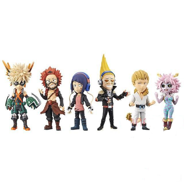 Original Banpresto WCF My Hero Academia Figure Set Bakugo Katsuki Kirishima Eijiro Collection Model Figurals
