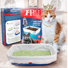 10 PCS Cat Litter Box Liners, Larger Thickening Drawstring Cat Litter Pan Bags Durable Pet Supplies Cat Accessories(China)
