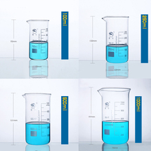 1set (100ml,250,500,1000ml) Borosilicate Graduated Glass Beaker in tall form glass measure cup Beaker Laboratory Equipment цены онлайн