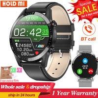 Reloj inteligente de negocios L13 para hombre, pulsera con llamadas, Bluetooth, rastreador deportivo de ritmo cardíaco y presión ECG, PK L16 L19