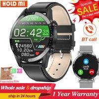 L13 negocios smart watch hombres BT llaman hombres relojes ECG presión rastreador deportivo de ritmo cardíaco deportes Smartwatch PK L16 L19