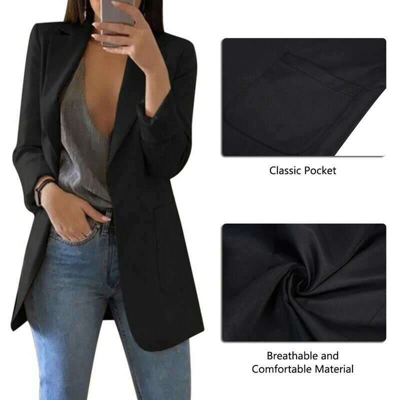 Women Casual Slim Business Blazer Suit Female Coat Jacket Outwear For Office HSJ88