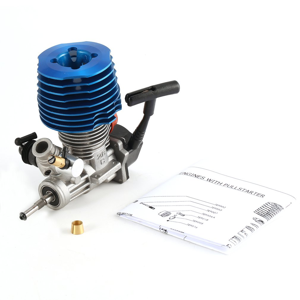 HSP RC Car 1: 8 Buggy Monster Truggy Nitro Engine SH 28 CXP Engine M28-P3 4.57CC 3.8hp 33000 <font><b>rpm</b></font> Side Exhaust Pull Starter Part image
