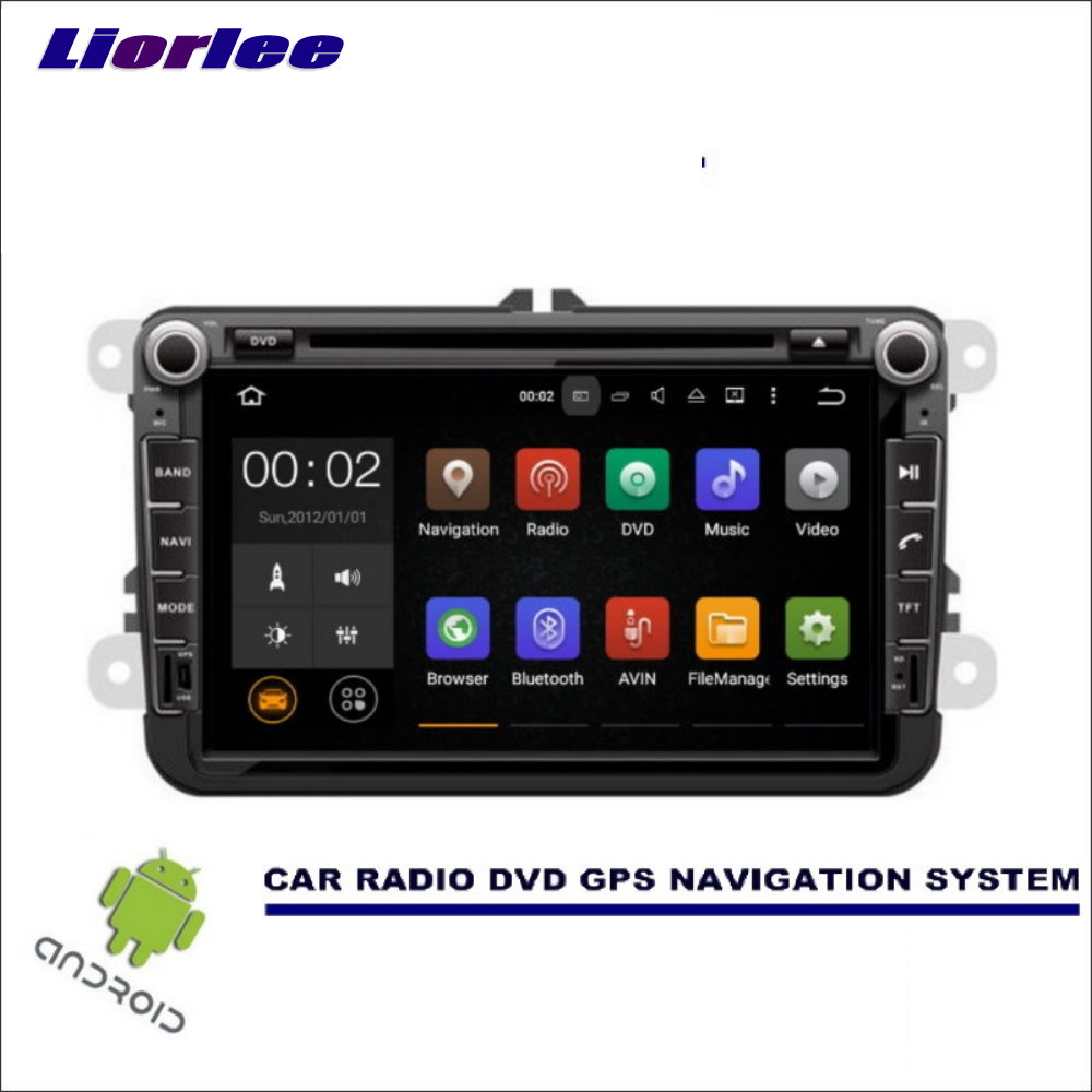 Liorlee Car Multimedia Navigation For Volkswagen <font><b>VW</b></font> <font><b>Touran</b></font>/Golf 2003-2015 CD DVD GPS Player Navi <font><b>Radio</b></font> Stereo Wince/Android image