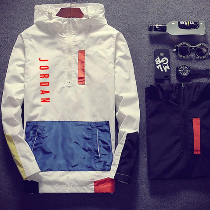Весна и лето Новинка 23 куртка с буквенным принтом Мужская Уличная ветровка с капюшоном на молнии тонкая куртка мужская повседневная куртка|Куртки|   | АлиЭкспресс