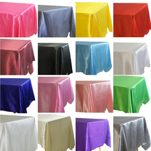 Satin Tablecloth Overlays Banquet-Decor Shower Rectangle Wedding Birthday Christmas Home