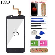 цена на Touch Screen Glass For Lenovo A328 A328T Touch Screen Digitizer Panel Front Outer Glass Lens Sensor Adhesive + Protector Film
