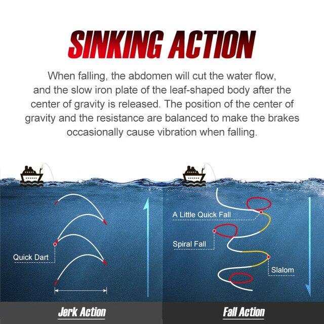 NOEBY 1005N Slow Jigging Fishing lures 60 80 100 120 150 180 210g Metal Bait Jigging Lure for Winter Deep Sea Jigs Fishing Lure