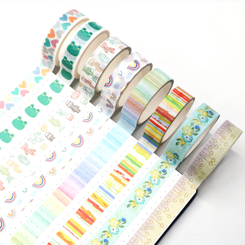 New 1PC Colorful Hearts , Cactus Printing Vintage Washi Tape 15mm*5m For Valentine DIY Decoration Paper Washi Tape
