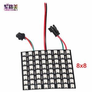 Image 4 - DC5V 8*8,16*16,8*32 Pixels WS2812 Digital Flexible LED Programmed Panel Screen Individually Addressable Full Color Display Board