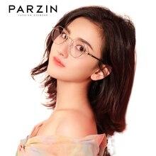 PARZIN Blue Light Glasses Women Alloy Silicone Computer Glasses Men Office Prescription Blocking Filter Transparent Goggles