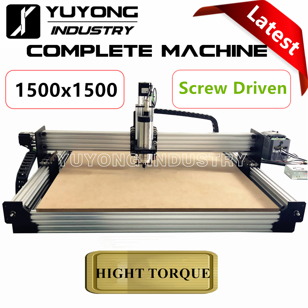 Screw Driven 1515 Latest V2.3 With Tingle Tensioning  WorkBee CNC Complete Kit Machine Wood Metal Engraver Milling Machine