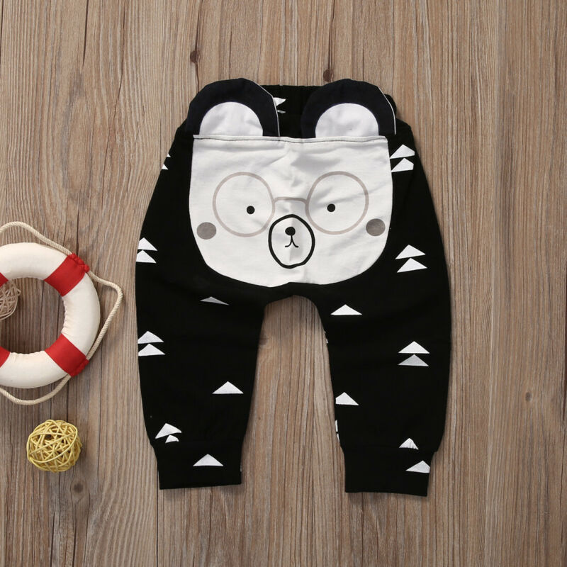 New Winter Fashion Warm Infant Baby Harem Pants Boys Girls Cute Cartoon Bottoms Pants Leggings Trousers
