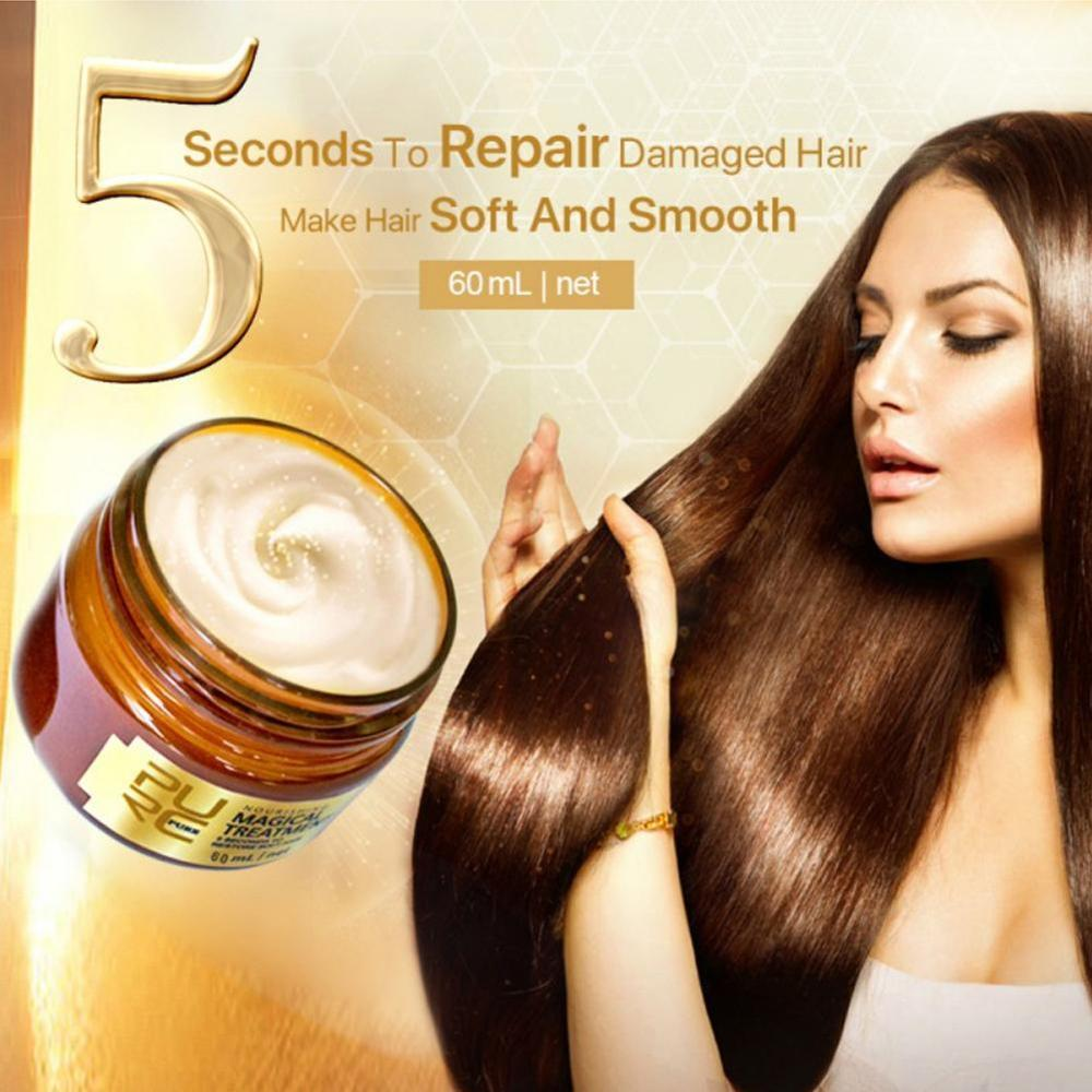 Magical Keratin Hair Treatment Mask 5 Seconds Repairs Damage Hair Root Tonic Keratin Hair 60ml Hair & Scalp Treatment