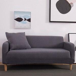 Image 3 - Winter Warm Fleece Cover Sofa Gebruik Voor Woonkamer Cubre Sofa Couch Cover All inclusive Stretch Elastische Slip Cover 1/2/3/4 zits