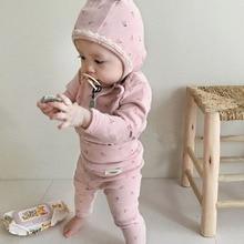 MILANCEL/Детская Хлопковая пижама для сна; Пижама для маленьких мальчиков с принтом вишни; Комплект для сна для малышей
