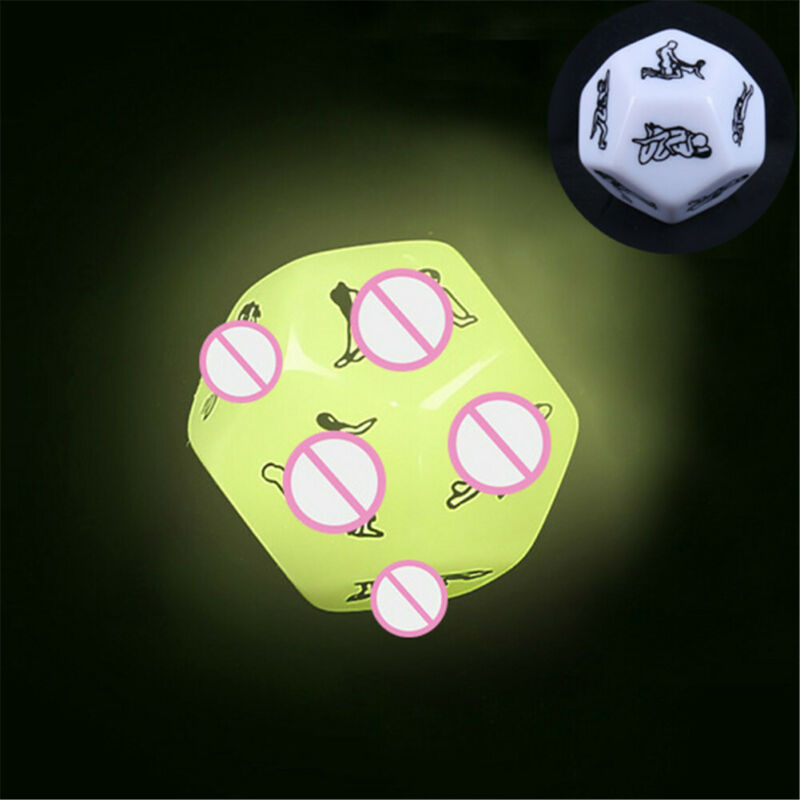 12 Sided Glow In The Dark Sex Dice Adult Couples Bedroom Fun - UK