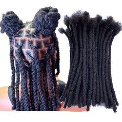 YONNA Human Hair dredy mikrolocks Sisterlocks dredy z włosów rozszerzenia 40Locs całkowicie ręczne wykonanie Natual Black # 1B (szerokość 0.4 cm)