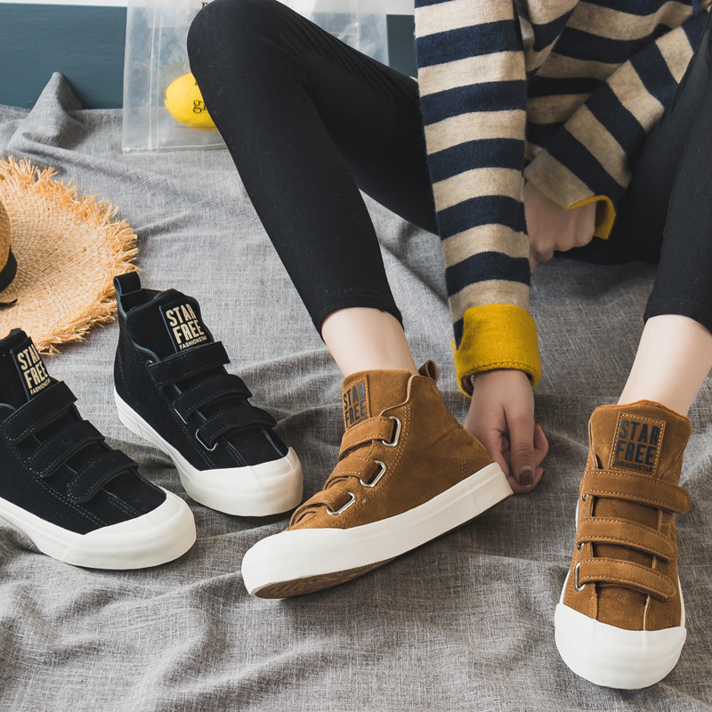 Winter Flats Warm High Top Women's Casual Shoes Canvas Shoes Female Sneakers Students Plush Shoes Ladies Flats zapatos de mujer