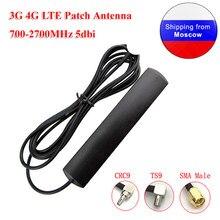 Antena de remendo lte 3g 4g 700-2700mhz 5dbi ts9 crc9 sma, cabo de extensão do roteador antena universal wi-fi