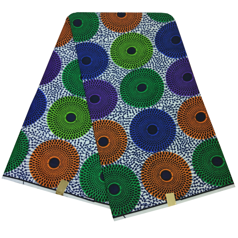 New Design African Ankara Fabrics Tissu Wax 6 Yards Guaranteed Real Dutch Wax African Fabric Veritable Wax For Women Dress