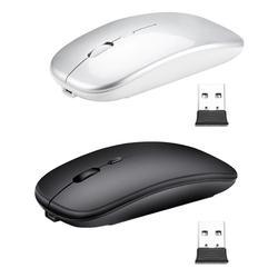 2.4GHz + Bluetooth 5.0 bezprzewodowa mysz do gier 1600DPI 4 przycisk wycisz mysz optyczna do komputera stacjonarnego Notebook TV