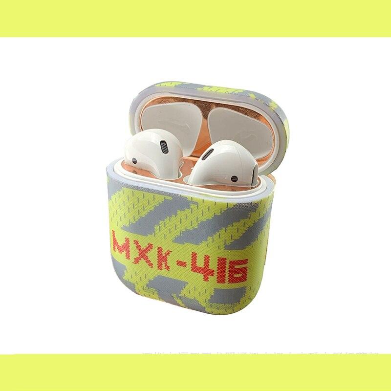 Тренд мужские туфли AirPods защитный чехол беспроводные Bluetooth наушники гарнитура Универсальный 1/2 поколение