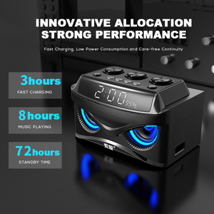 Image 5 - SOAIY S68 Mini LED Speakers 25W Portable Wireless Bluetooth Speaker Smart Bass Outdoor with 3 Drivers Support FM TF Fast Ship