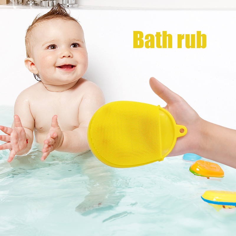 Dropshipping High Quality Toddler Baby Silicone Body Bath Brush Quick Dry Bacteria Resistant Scrubbers Exfoliating Mitt SMJ