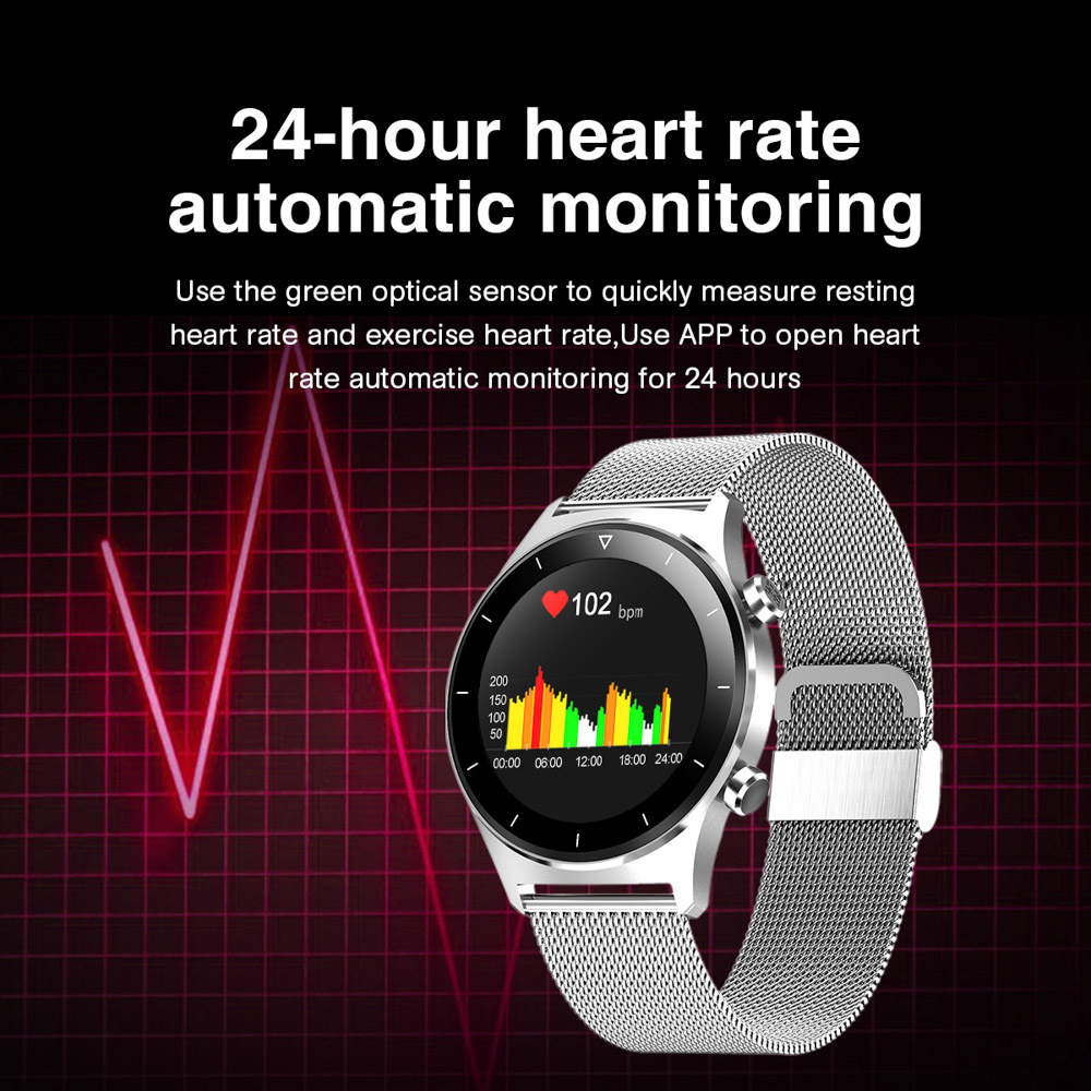 Ha5745288015c43b9ba81bcdf62e2fb8bO E1-3 Smart Watch Men 1.28 inch Full Touch Screen IP68 Waterproof Bluetooth 5.0 Sports Fitness Tracker Smartwatch For Android IOS