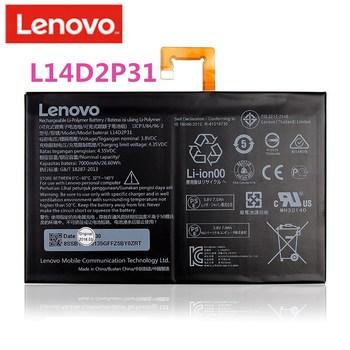 2019 oryginalny 7000mAh L14D2P31 dla Lenovo Tab 2 A7600-F A10-70F Tab2 A10-70 A10-70L baterii l14d2p31 tanie i dobre opinie Powyżej 5000 mAh