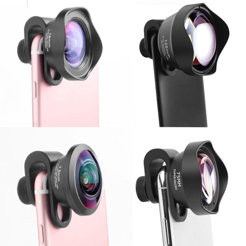 4 в 1 клип на мобильный телефон внешний широкоугольный Рыбий глаз комплект объективов для камеры Открытый HD макро телефото профессиональные аксессуары - 5