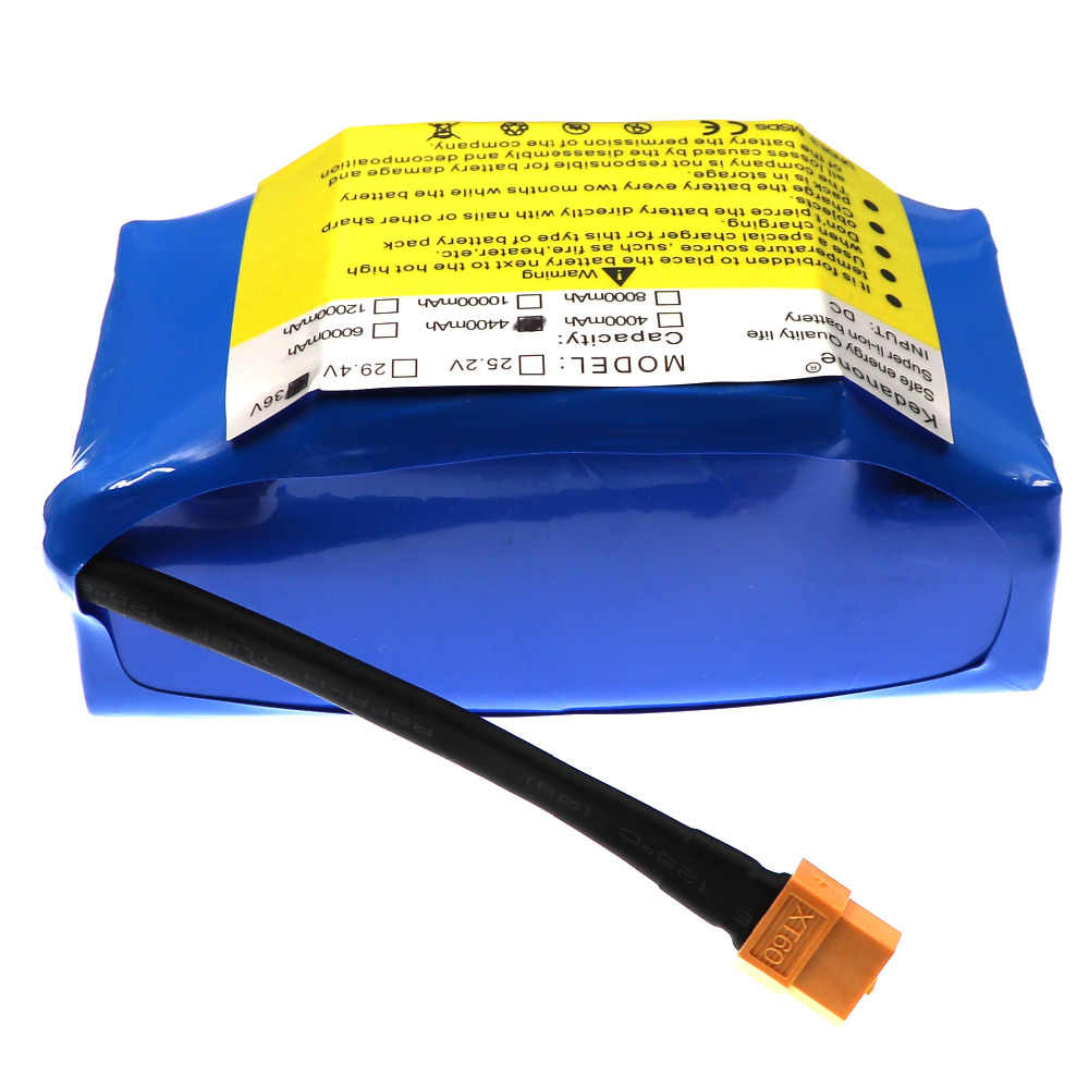 36V Superior lithium-ion rechargeable battery 4400 mAh 4.4AH lithium-ion battery for electric self-suction hoverboard unicycle