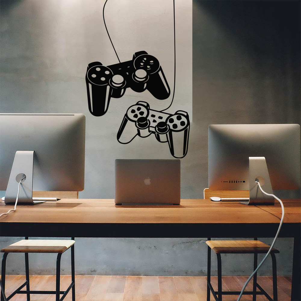 New Game Gamepad Vinyl Wall Sticker Decals For Kids Room Decoration Nursery Boys Gaming Room Decor Stickers Decals Poster Best Promo 3325a6 Cicig